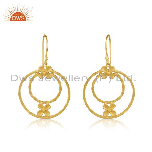 Handmade Brass Fashion Gold Plated Designer Fashion Earrings Wholesaler India