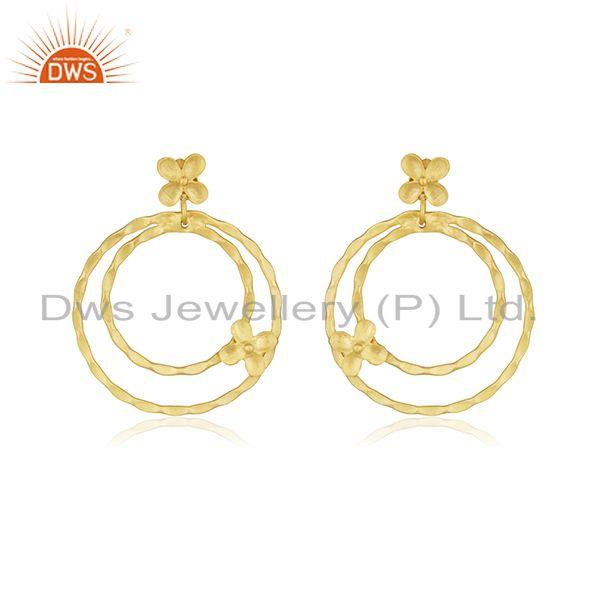 Manufacturer Gold Plated Brass Handmade Fashion Earrings Jewelry