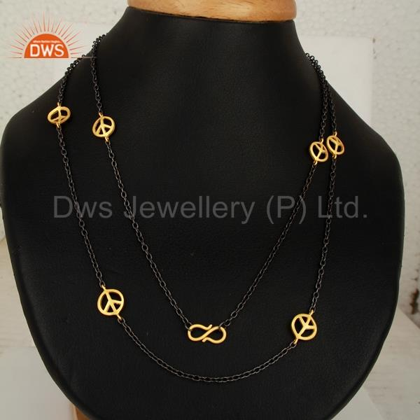 Designer Womens Gold Plated Brass Chain Necklace Jewelry Manufacturer