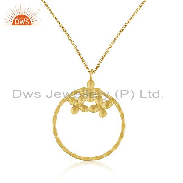 Manufacturer Floral Designer Brass Fashion Chain Pendant Jewelry