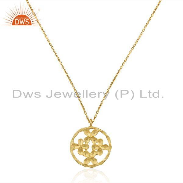 Indian Floral Brass Fashion Chain Pendant Jewelry Supplier