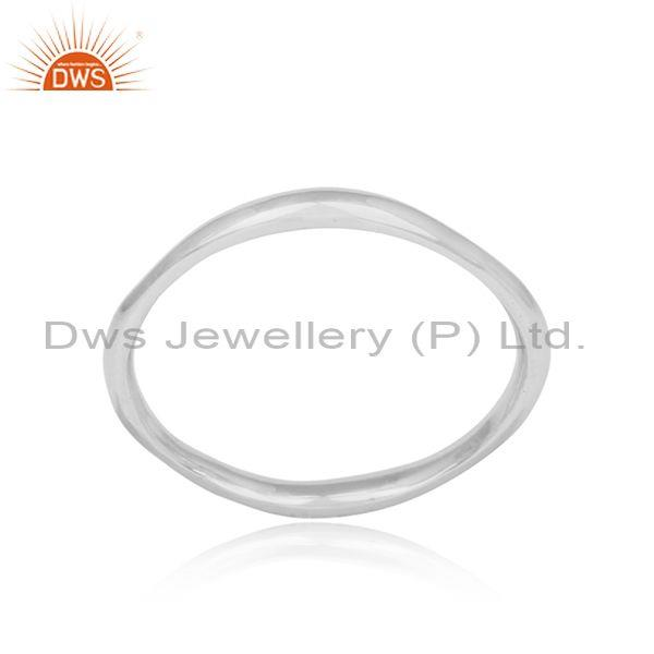 Fine 925 Sterling Silver Oval Shaped Handmade Ring