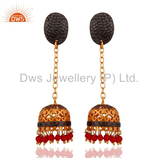 Bollywood Style Indian Traditional Bridal Gold Plated Turquoise Jewelry Earring