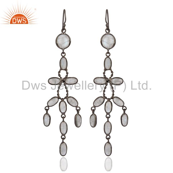 Party Wear Rainbow Moonstone Jewelry Bridal Wedding Women Dangle Indian Earrings