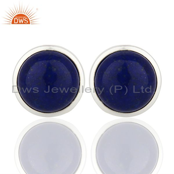 Lapis Sterling Silver Cufflinks Mens Jewelry