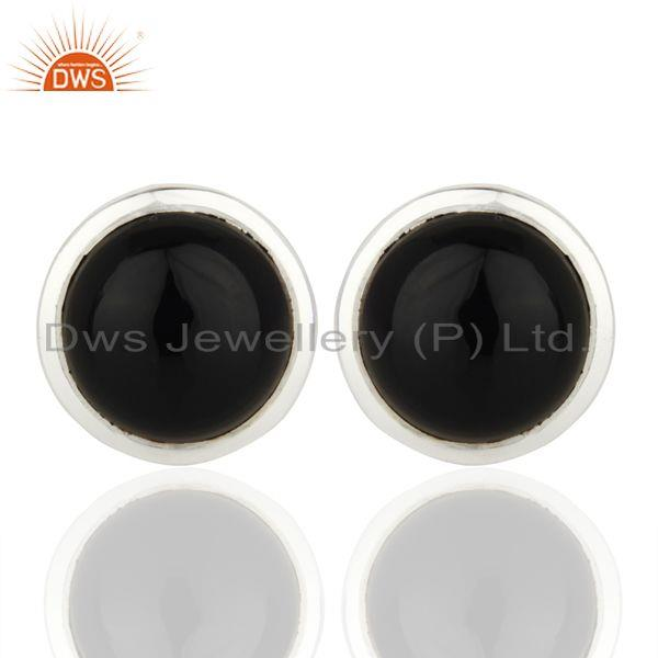 Black Onyx Sterling Silver Cufflinks Mens Jewelry