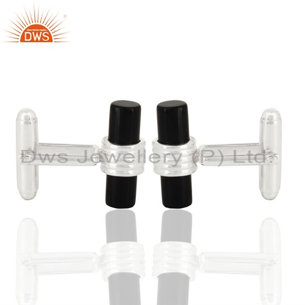 Black Onyx Cufflinks Mens Designer Gift For Him,Designer Cufflinks