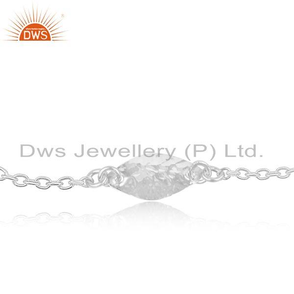 Handmade luxury solid 925 sterling silver fashion jewellery chain bracelet