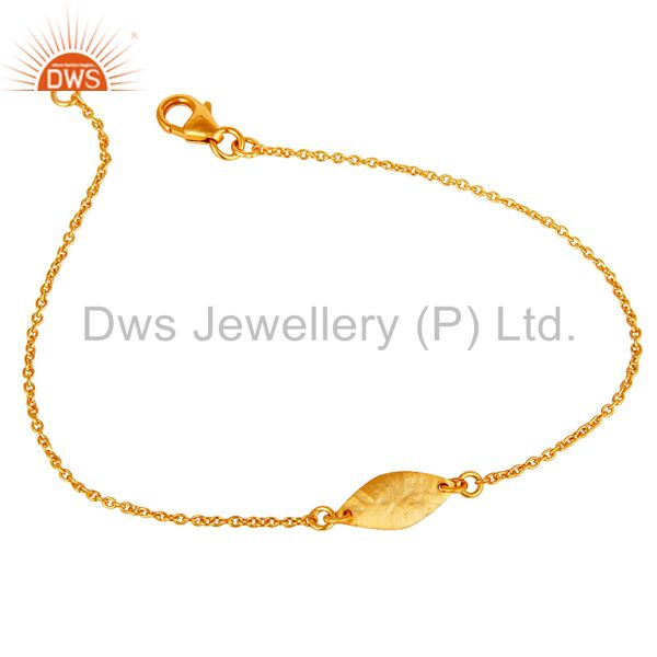Luxury 18k gold plated 925 sterling silver fashion jewellery chain bracelet