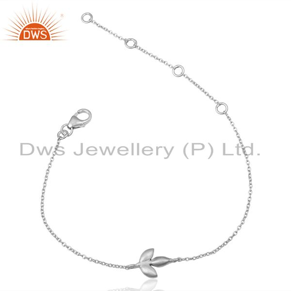 Chain Link 925 Sterling Silver Handmade Design Chain Bracelet Jewelry