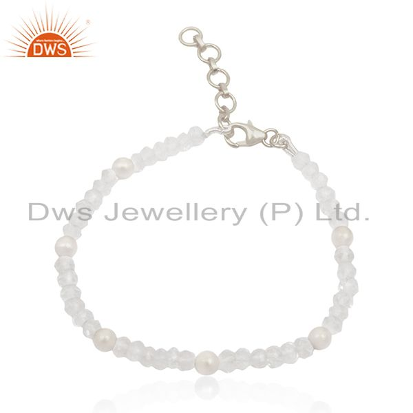 Fine Sterling Silver Round Crystal Ball Bracelet Manufacturers