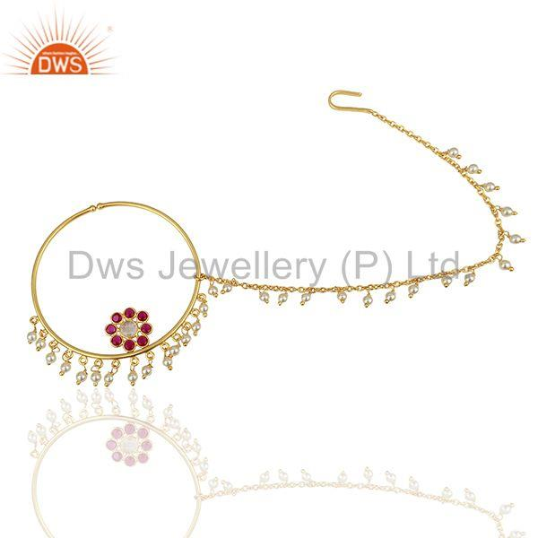 Handmade 925 Silver Gold Plated Gemstone Jewelry Findings Manufacturer