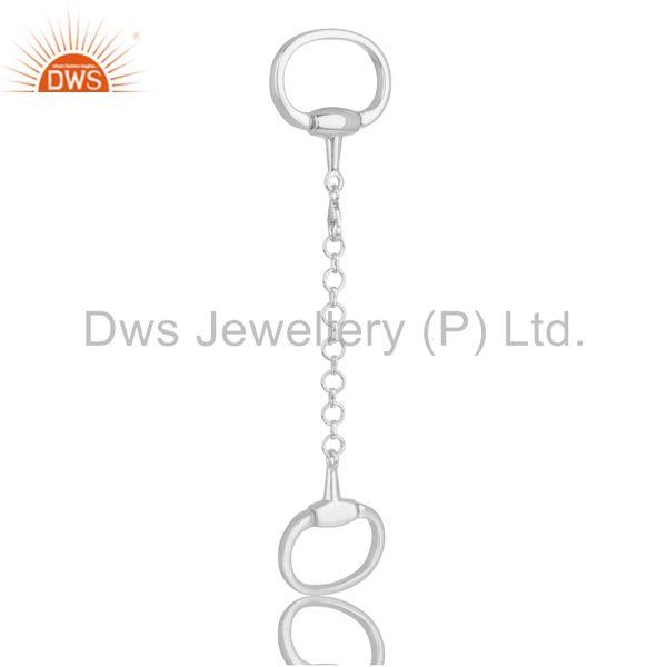 Horse Bit Snaffle Charm Solid 925 Sterling Silver Jewelry