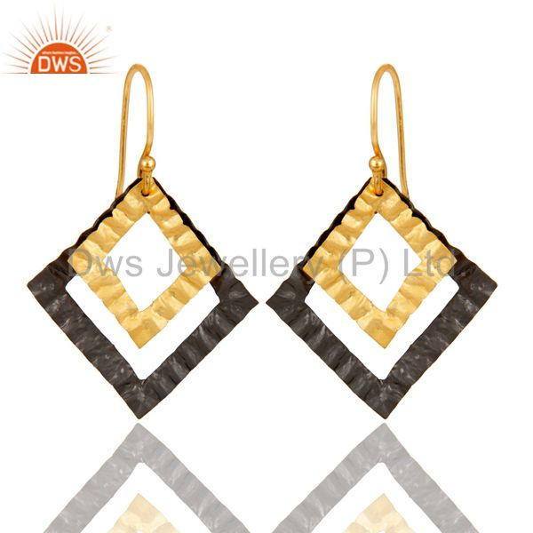 Textured Designer Brass Fashion Earrings Jewelry Manufacturer Supplier