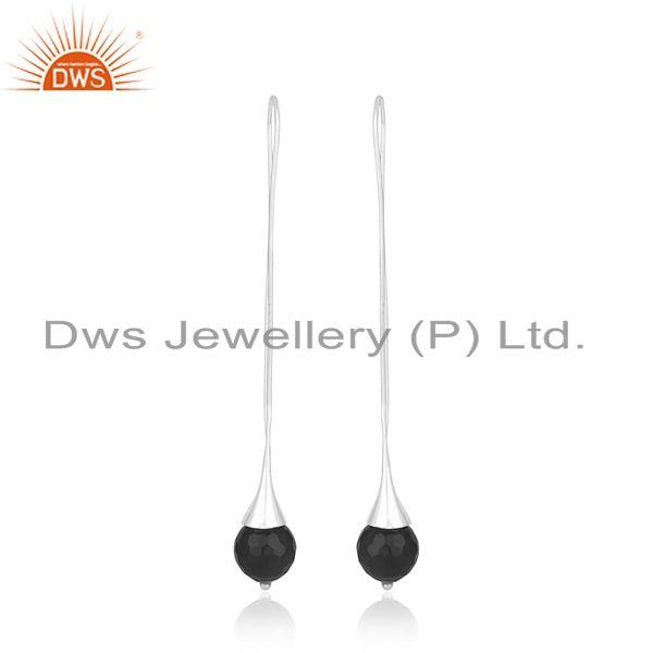 Handmade Fine Sterling Silver Black Onyx Gemstone Earrings Suppliers
