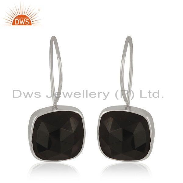 Black Onyx Gemstone Fine Sterling Silver Girls Earrings Jewelry Manufacturer