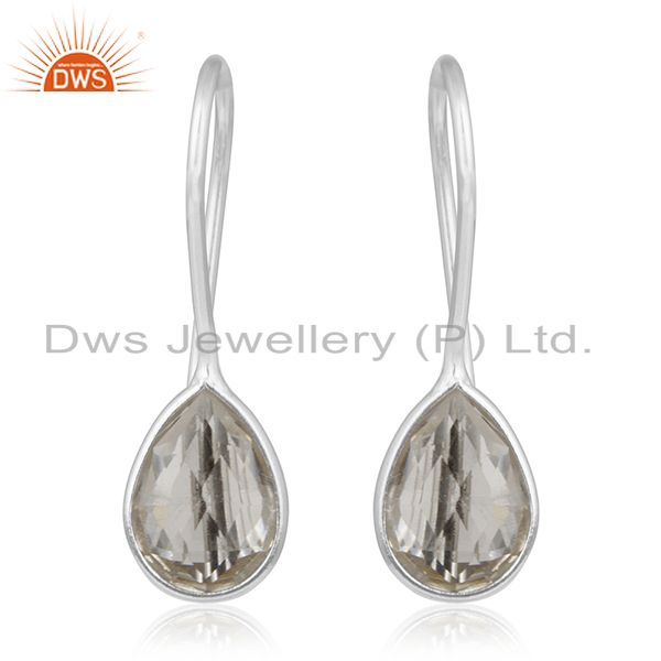 Crystal Quartz  Sterling Silver Handmade Earring Jewelry Manufacturers