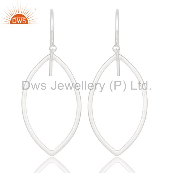 Handmade Solid 925 Sterling Silver Pear Shape Design Earrings