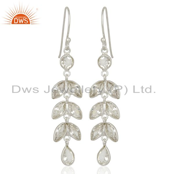 Handmade Leaf Design Fine Silver Earrings Jewelry Manufacturer