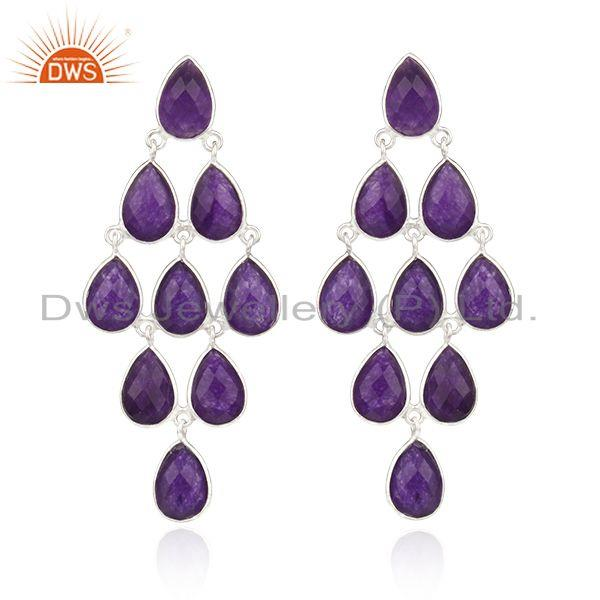 Aventurine Amethyst Gemstone Fine Sterling Silver Earrings Wholesale
