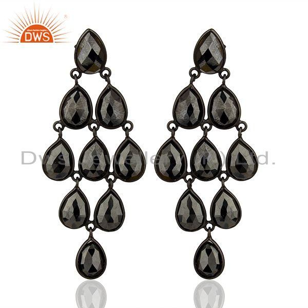 Black Rhodium Plated 925 Silver Customized Earrings Manufacturers