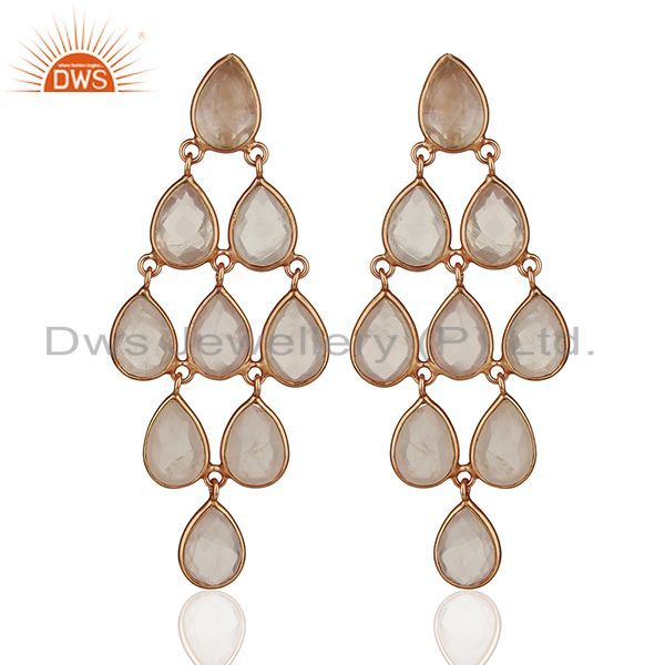 Rose Gold Plated Handmade 925 Silver Gemstone Earrings Manufacturers