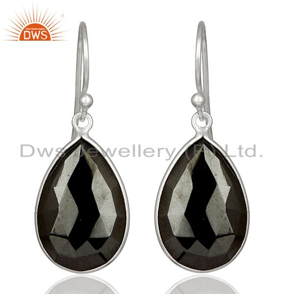 Solid Fine 925 Silver Hematite Gemstone 925 Silver Earrings jewelry