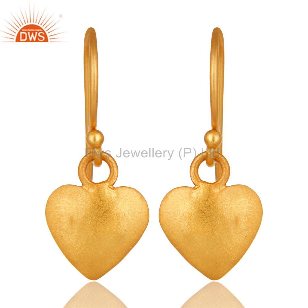 Traditional Handmade Pan Design Earrings with 18k Gold Sterling Silver