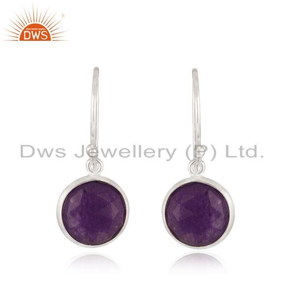 Purple Gemstone Handmade Fine Sterling silver Earrings Manufacturer