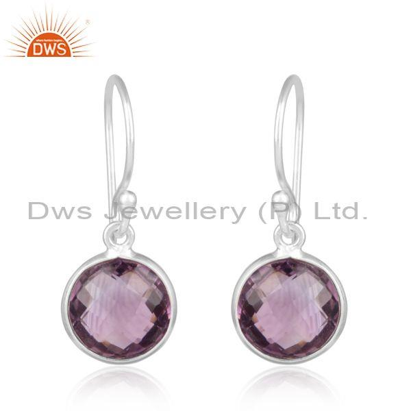 Handcrafted Trendy Silver 925 Earrings with Amethyst