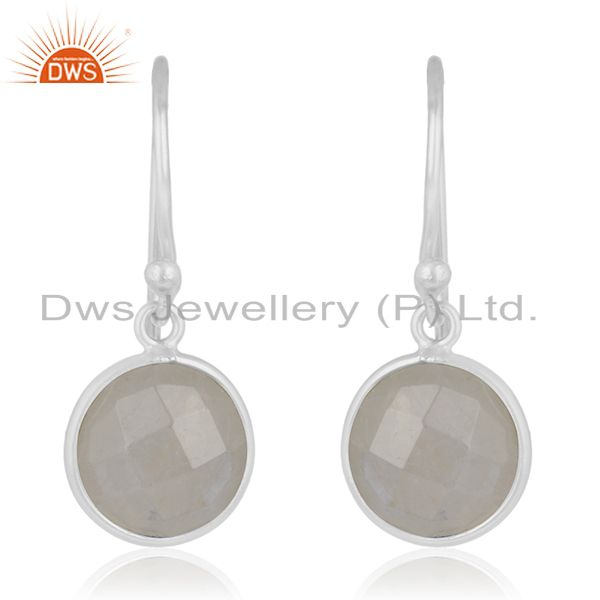 Rainbow Moonstone 92.5 Sterling Handmade Silver Earring Jewelry Manufacturer