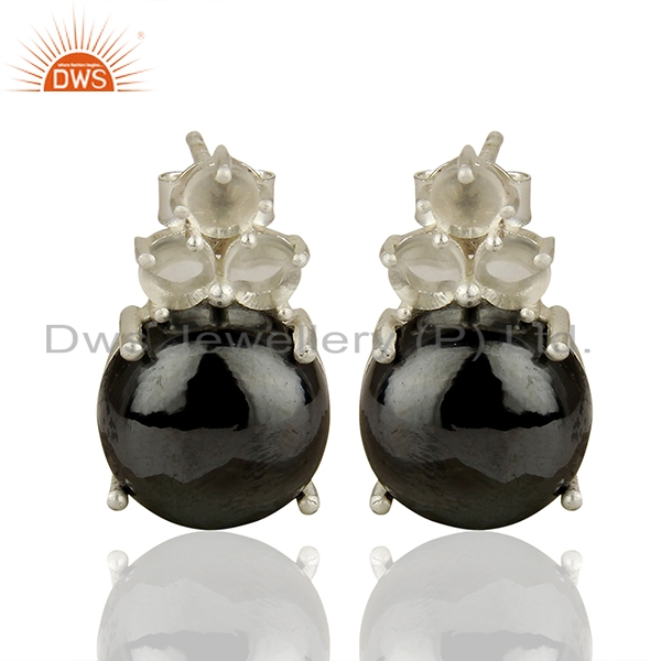 Handmade Prong Setting Multi Gemstone Silver Earrings Manufacturers