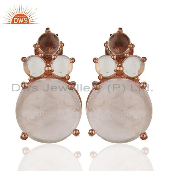 Designer 925 Sterling Silver Gemstone Stud Earrings Manufacturers