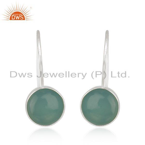Fine Sterling 925 Silver Chalcedony Gemstone Earrings Manufacturer