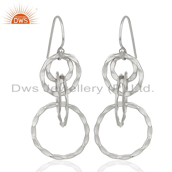 Indian Handmade 925 Sterling Silver Earrings Manufacturer India