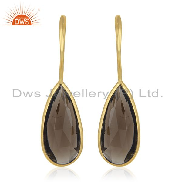 Private Label Jewelry Manufacturer for 925 Silver Gold Plated Gemstone Earrings