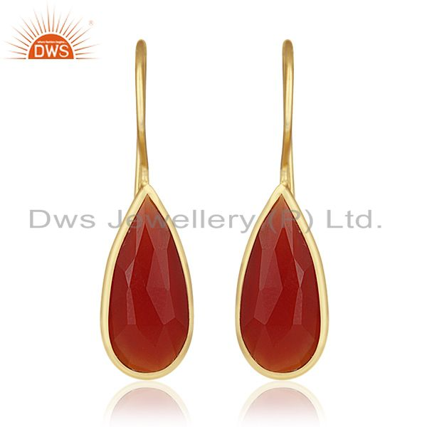 Silver Jewelry Manufacturer for Designers 925 Silver Gold Plated Earrings