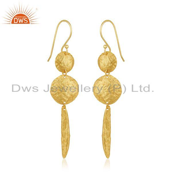 Gold Plated Sterling Silver Handmade Earrings Manufacturer of Wedding Jewelry