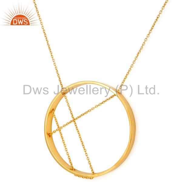Traditional Handmade 18K Yellow Gold Plated Chain Pendant Fashion Jewellery