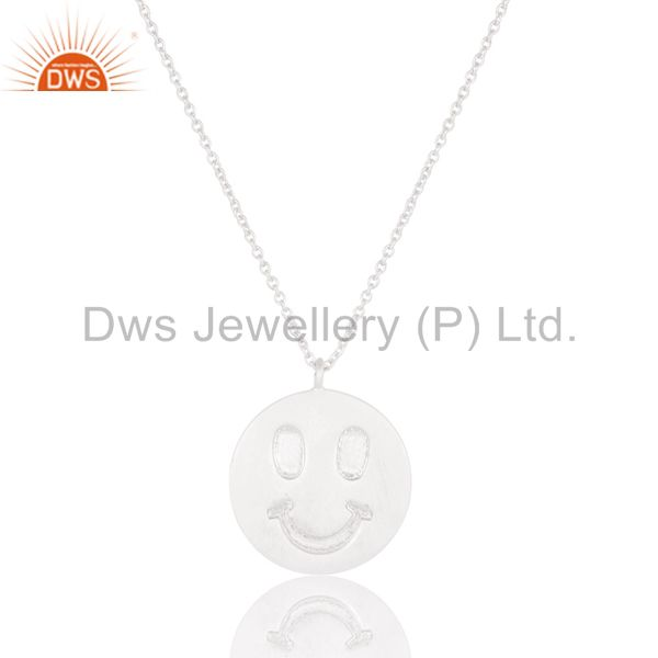 Solid sterling silver handmade face carving pendant with chain