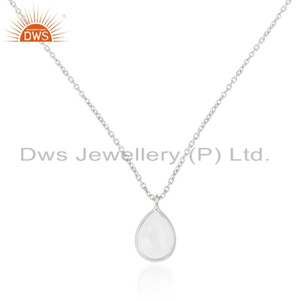 Rainbow Moonstone 925 Sterling Fine Silver Chain Pendant Manufacturer of Pendant