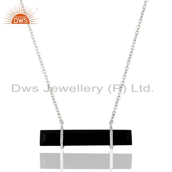 Black onyx gemstone 925 sterling silver pendant manufacturer