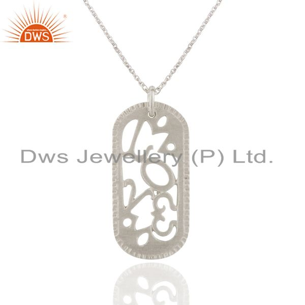 Handmade Solid 925 Sterling Silver Simple Designer Pendant With Chain