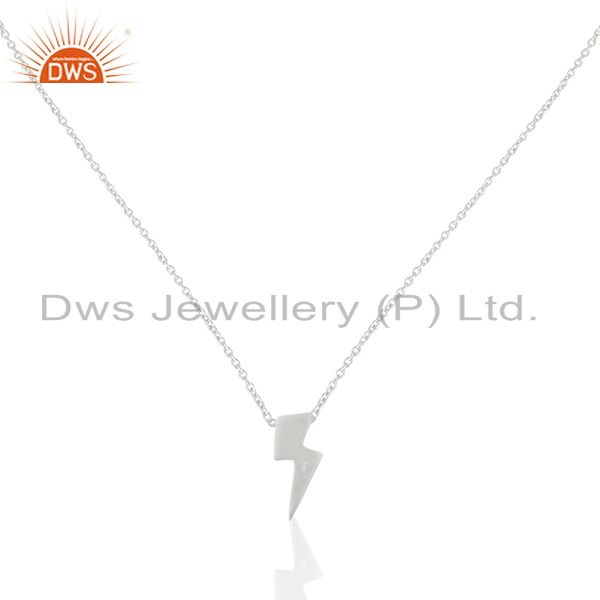 92.5 sterling plain silver power sign chain pendant manufacturer