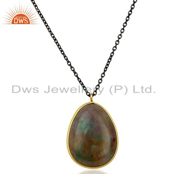 Ocean Jasper Gemstone 925 Silver Womens Pendanrt Jewelry Supplier