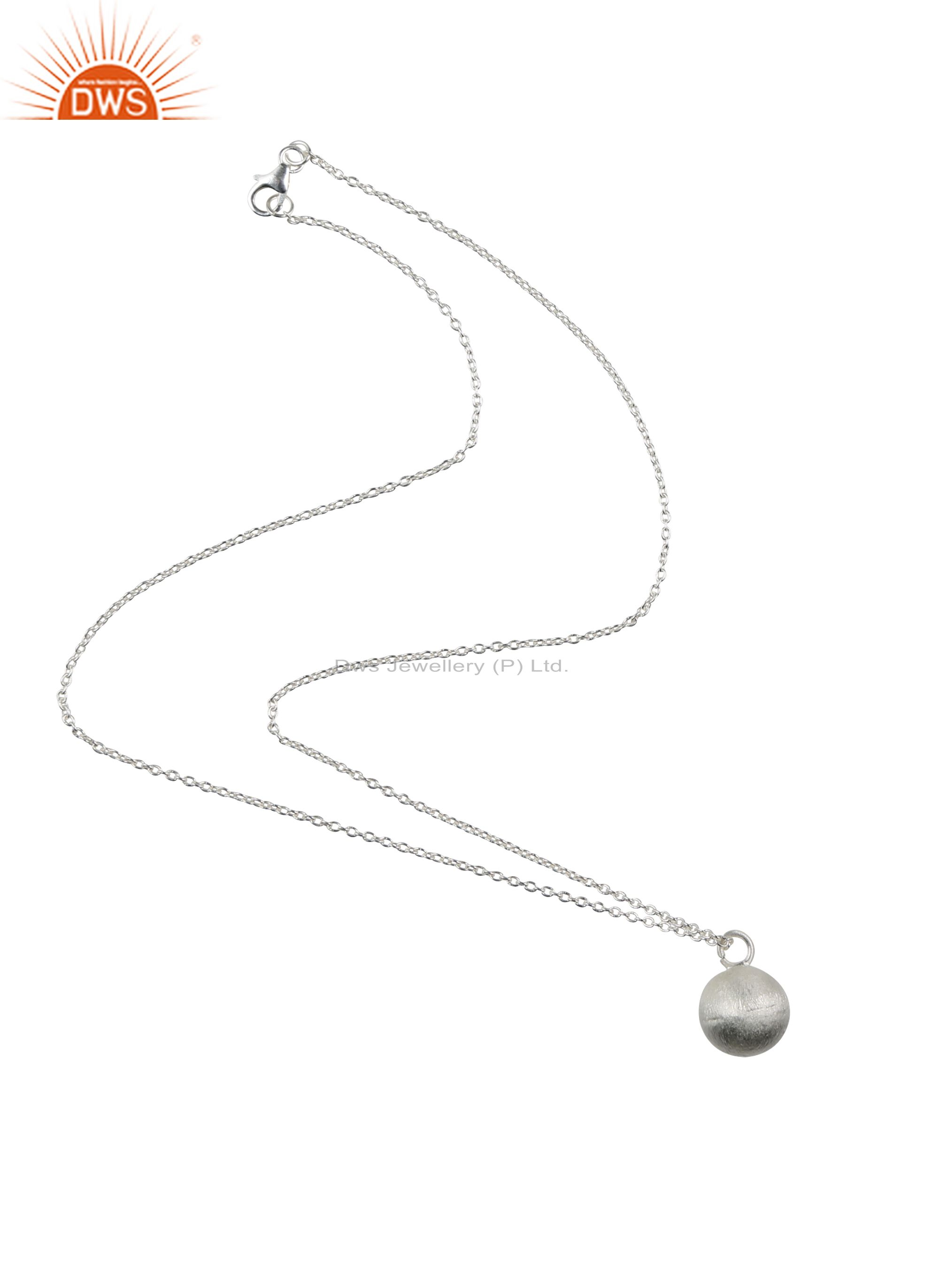 Handmade 925 Sterling Silver Spheres Pendant With 20