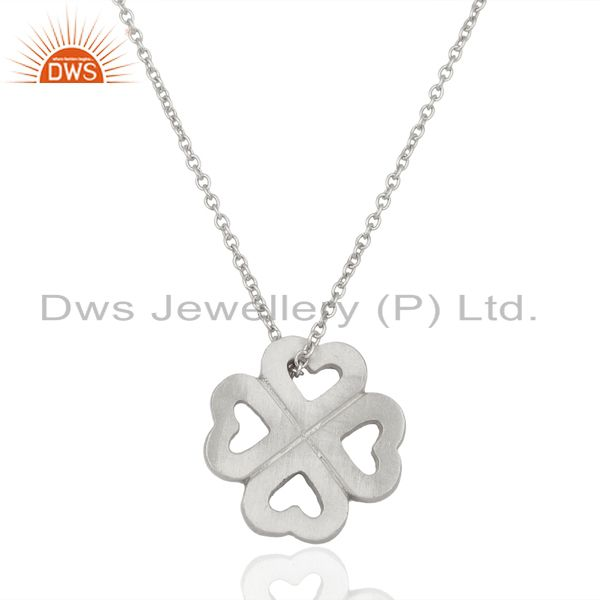 Handmade 925 Sterling Silver Heart Design Pendant With Chain Necklace