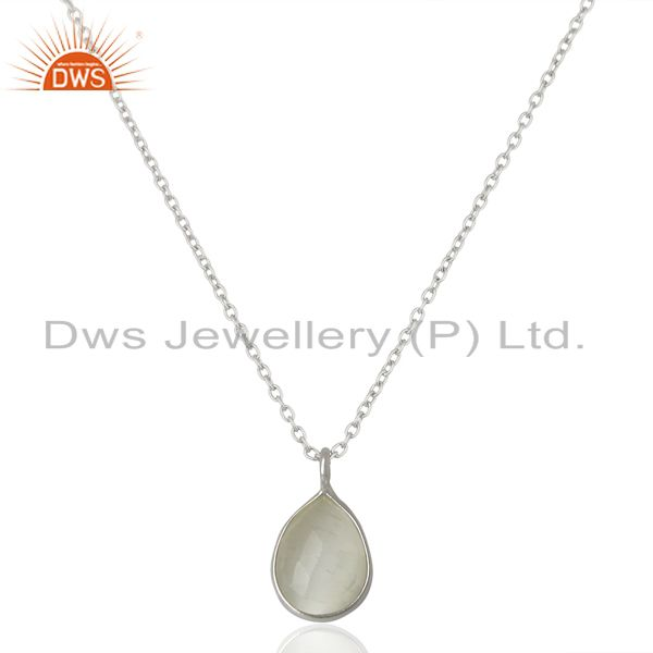 White Moonstone Sterling Fine Silver Pendant Jewelry Manufacturer