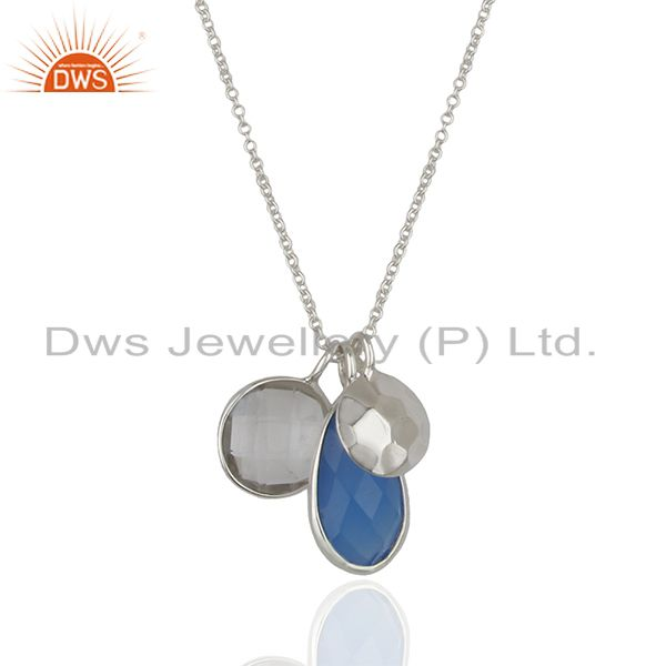 Multi Gemstone 925 Sterling Silver Chain Pendant Manufacturers