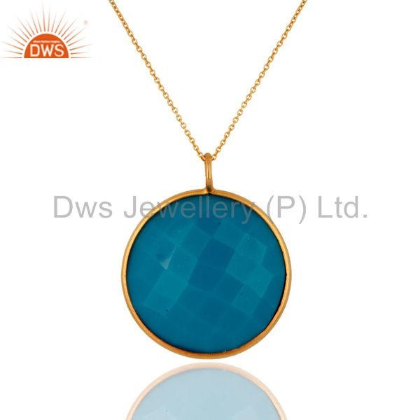 Big pendants goldplated necklace a-07
